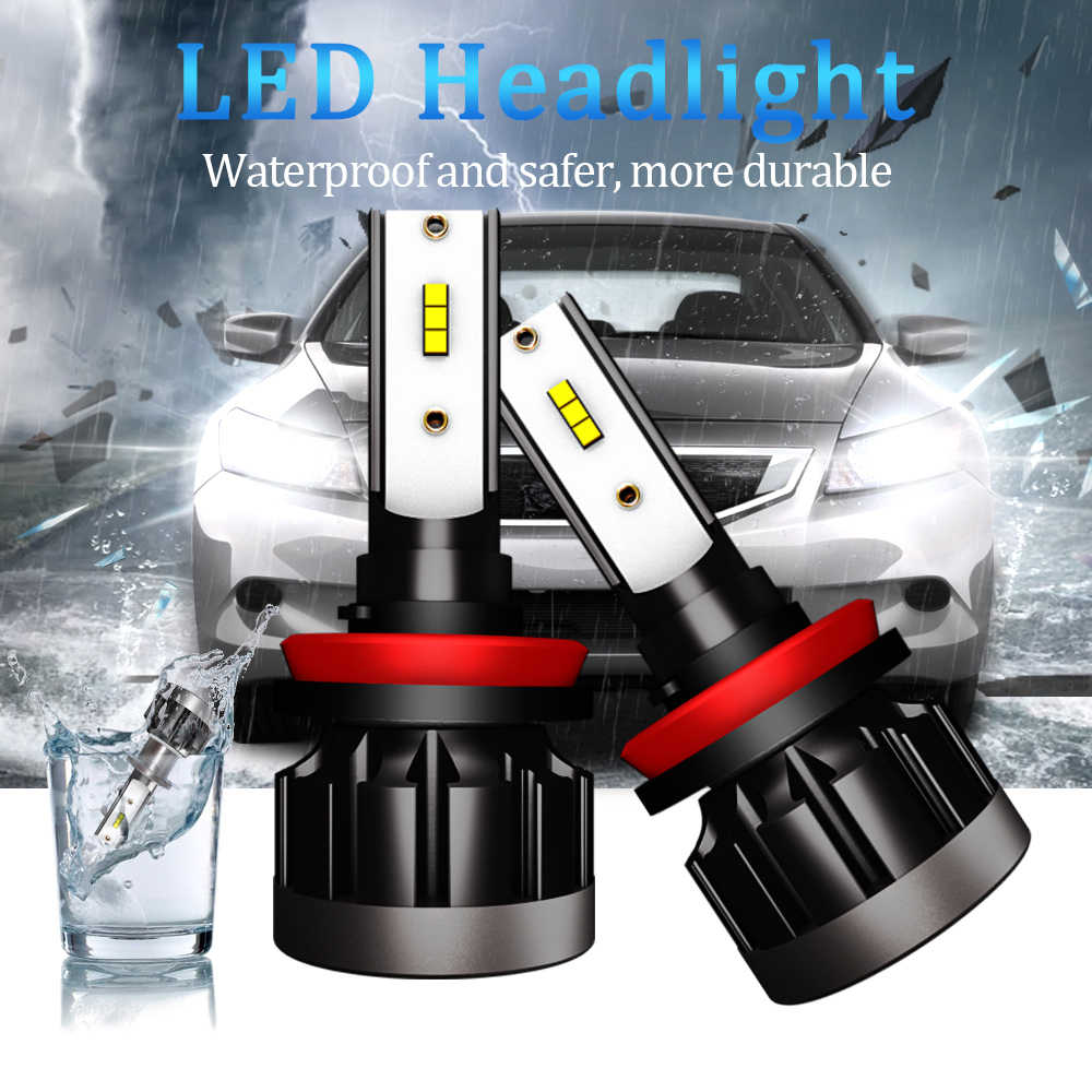 Light Bulb For Car Car Lights Bulbs H7 LED H4 H1 H11 9005 hb3 9006 hb4 Auto Headlamp Fog Light luces led para auto 12000LM 6000K