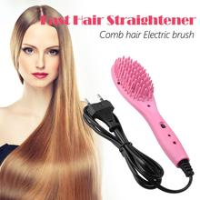 Professional Electric Hair Straightener Comb Brush Irons Massage Styling Tools