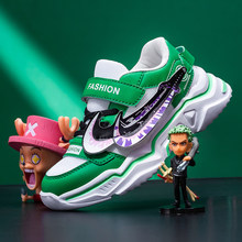 Kids Shoes Cartoons Sneakers For Boys Girls Sports Anime Shoes Lightweight Children Leather Waterproof Casual Walking Shoes