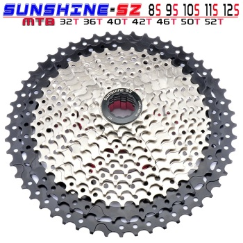 MTB 8 9 10 11 12 Speed Cassette Wide Ratio Freewheel Mountain Bike Sprocket 11-32/36/40/42/46/50/52T Compatible with Shimano image