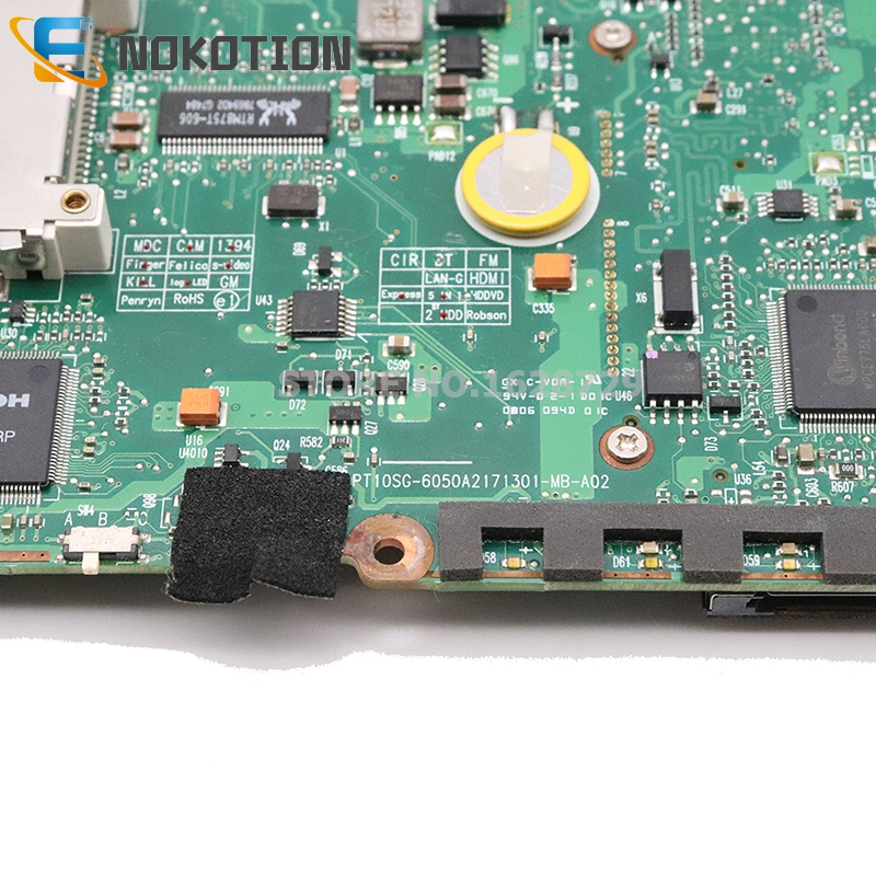 Image 4 - NOKOTION V000125160 6050A2171301 MB A02 For Toshiba Satellite  A300 A305 Laptop motherboard 965PM DDR2 with graphics slot IDE  DVDLaptop Motherboard