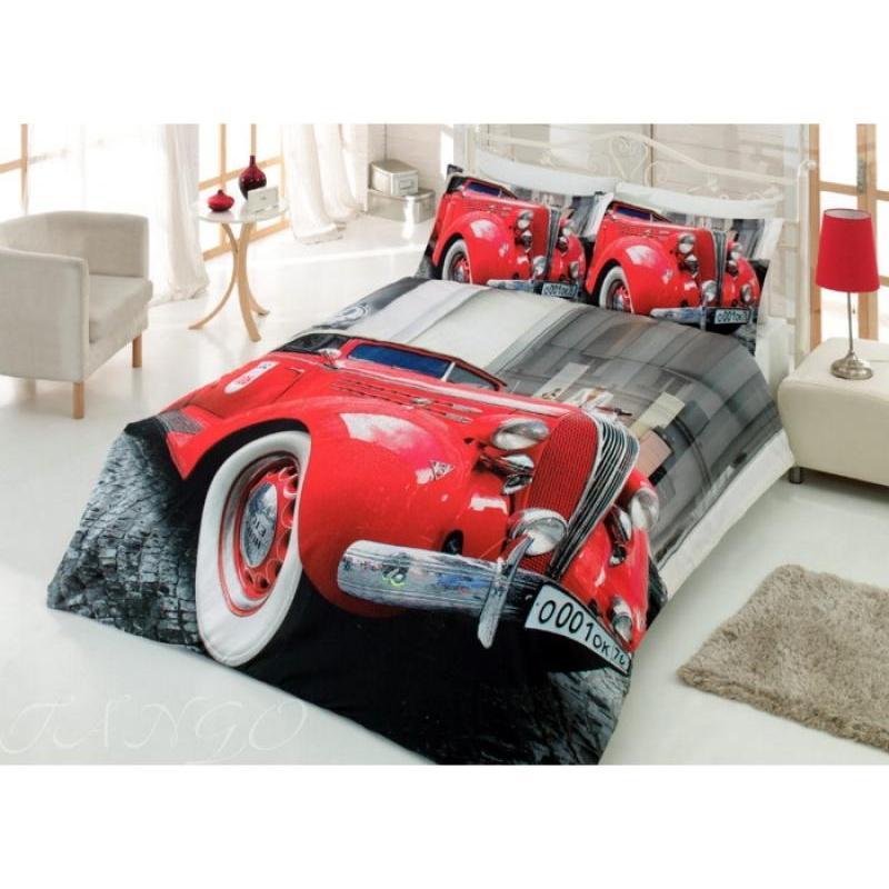 Bedding Set double-euro VIRGINIA SECRET, Ranforce, machine, red, 3D ranforce bedroom set cotton box ranforce bedroom set