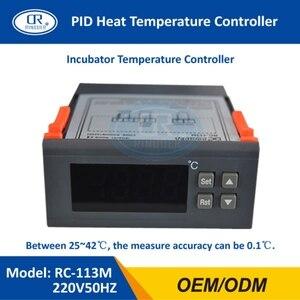 Image 3 - Ringder RC 113M 220v50hz 0.1c pid calor brotando regulador de incubação termostato digital controlador temperatura para laboratório incubadora