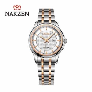NAKZEN Luxury Quartz Watch For Women Stainless Steel Wristwatch Luxury Clock Life Waterproof Gifts For Womenes Relojes De Mujer