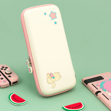 Watermelon Cat Switch Bag Waterproof Hard Cover Shell NS Travel Case Box Free Shoulder Strap For Nintendo Switch Accessories