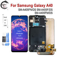5.9 AMOLED LCD + Frame For SAMSUNG Galaxy A40 2019 Display SM A405FN/DS A405F A405FM LCD Screen Touch Sensor Digitizer Assembly
