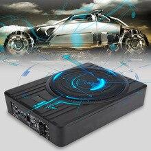 Универсальный 10 дюймов ультратонкий активный сабвуфер для автомобиля аудио автомобиля акустическая система стерео мощность сабвуфер аудио бас корпус динамик
