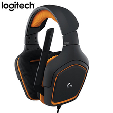 لوجيتك G231 ستيريو الألعاب سماعة رأس مع ميكروفون إلغاء الضوضاء MIC على كابل 3.5 مللي متر لعبة فيديو سماعة ديناميكية