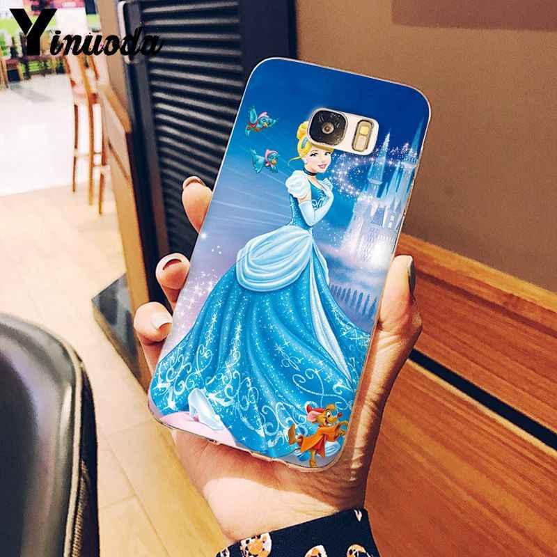Yinuoda Putri Ariel Little Mermaid Putri Salju Lembut Case Telepon untuk Samsung S5 S6 S6 Edge Plus S7 S8 S8plus s10 S10 PLUS