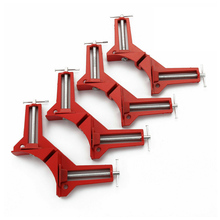 4Pcs Multifunction 90 Degree Right Angle Clamp Picture Frame Holder Corner Clip Mitre Clamp Woodworking Tool 4Inch