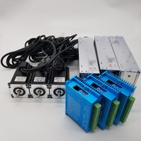 3PCS 2.2Nm DC Nema23 57mm Closed Loop Stepper Motor DSP 2PH Drive Power Supply Kits Hybird Encoder Easy Servo for Milling Lathe