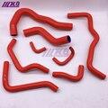 Комплект силиконовых шлангов радиатора для Honda RN3 stream (8 шт) красный/синий/черный
