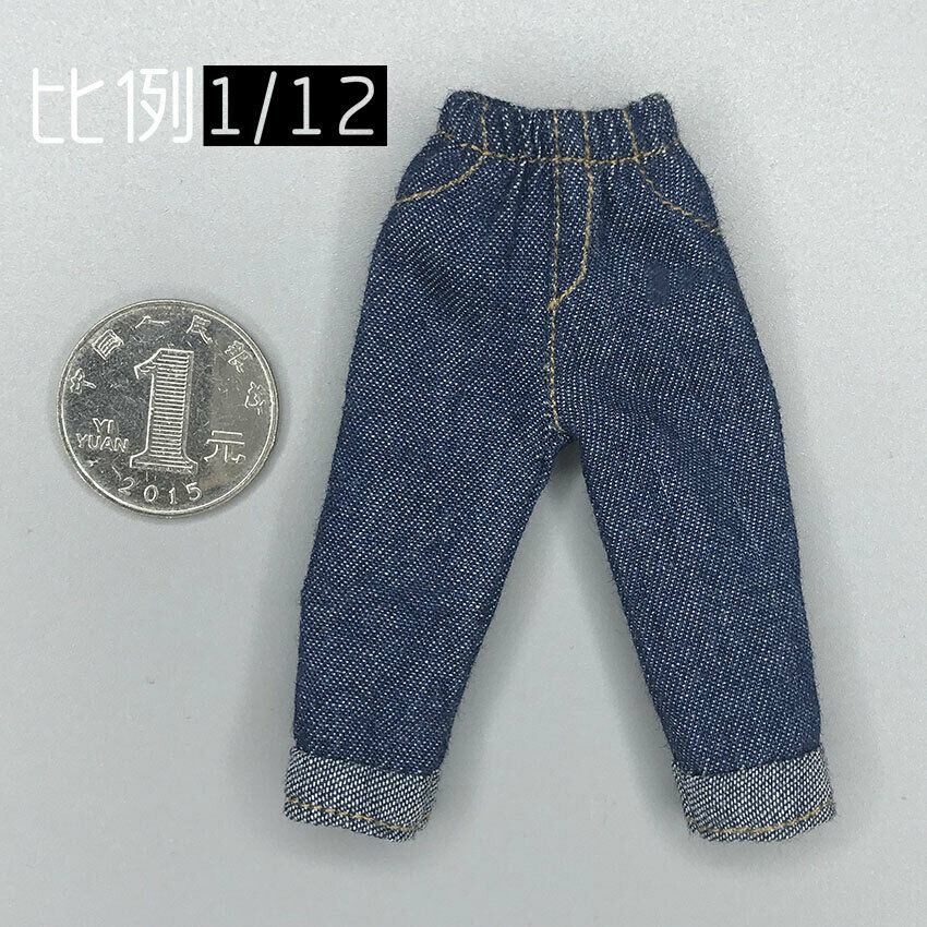 1/12th Soldier Loose 9 Points Jeans Model for 6