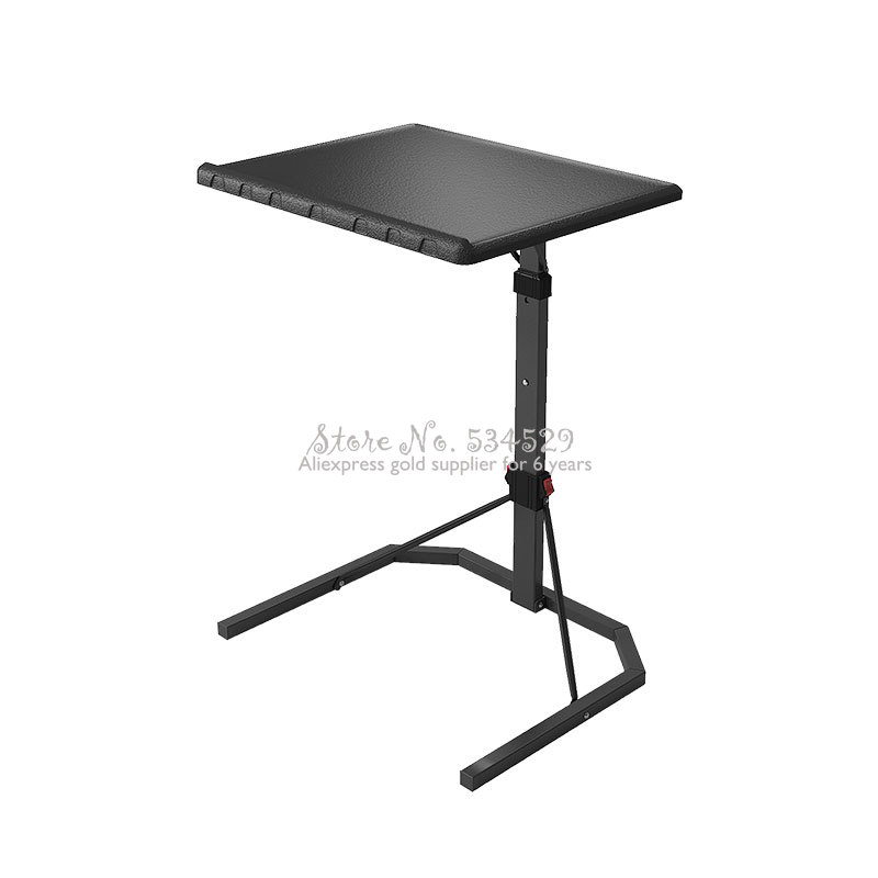 Portable Laptop Desk Lazy Desk Simple Lifting Small Table Folding Computer Table Desk Removable Bedside Table Carbon Steel Legs