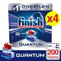 Finish Quantum Spülmaschine Waschmittel 4x50 Tablet 200 PCs konzentriert geschirr Tabletten kapseln