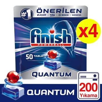 Finish Quantum zmywarka Detergent 4 #215 50 Tablet 200 szt Skoncentrowane tabletki do zmywania naczyń kapsułki tanie i dobre opinie TR (pochodzenie)