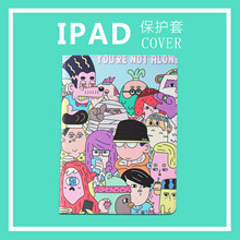 Case for iPad Mini 4 illustration Cute Cartoon Scratch Resistant Cover Hard Back For ipad 5 protective Cases