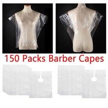 150 Pieces Salon Hairdresser Hair Cutting Cape Gown Barber Shop Apron Clear