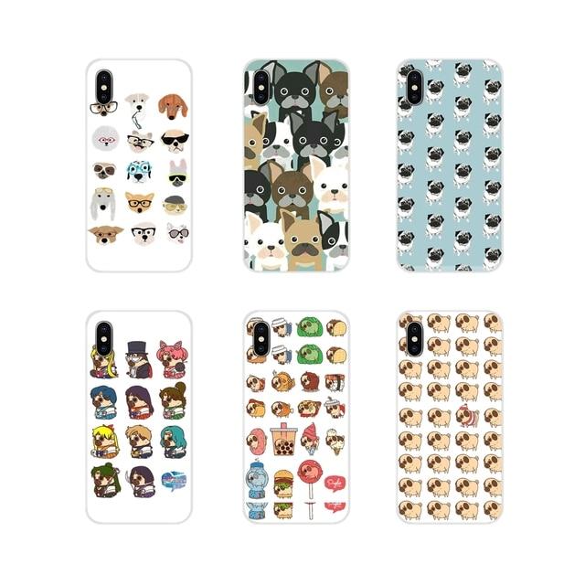 Cute Animal Pug Dogs For Xiaomi Redmi Note 3 4 5 6 7 8 Pro Mi Max Mix 2 3 2S Pocophone F1 Accessories Phone Cases Covers