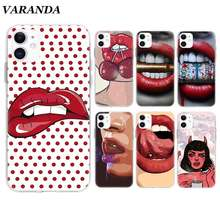 Girl Wowen Sexy Lips Charry Case for Apple iPhone 11 X XR XS Max 7 8 6 6S Plus 5 5S SE 5C Silicone Cover Phone Coque Shell(China)