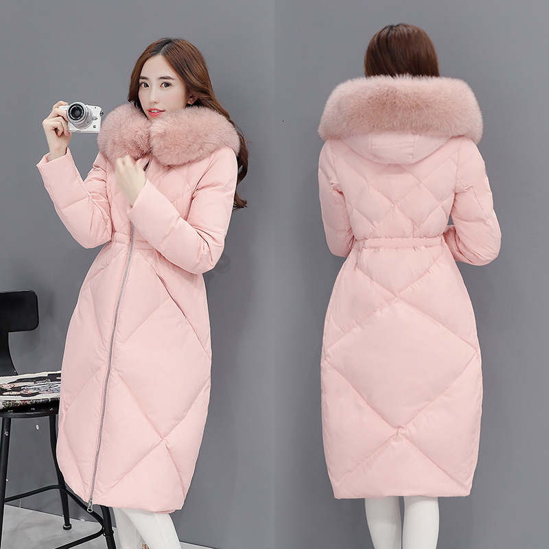 Sample No Sell Long Fund Overknee Thickening Down Jackets Woman Heavy Seta Lead Will Code Winter Clothes Loose Coat Tide