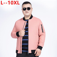 10XL 8XL 6XL 5XL Mens Spring Summer Jackets Casual Thin Male Windbreakers College Bomber Pink Windcheater Hommes Varsity Jacket
