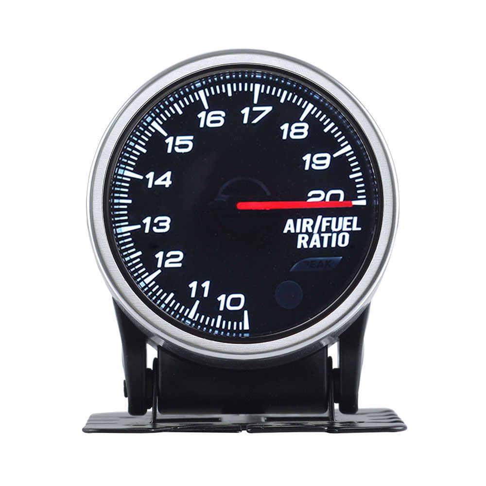2 بوصة 52 مللي متر الدخان عدسة واسعة النطاق الهواء نسبة الوقود مقياس متر مع مستشعر إلكتروني