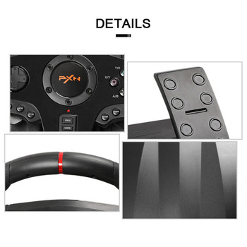 PXN V900 Game Steering Wheel for PS3 PS4 NS Switch Gaming Controller for  PC USB Vibration Dual Motor with Foldable Peda 4