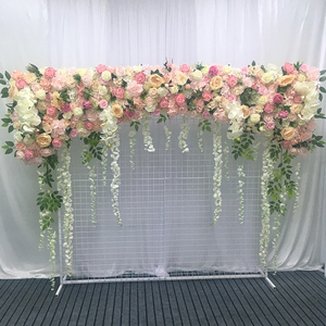 Flone customize artificial flowers wall wedding backdrop flower wall silk fake flower wall home wall decorations flower