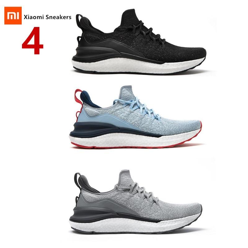Новинка 2020, спортивная обувь Xiaomi Mijia, кроссовки 4, для улицы, для мужчин, для бега, для ходьбы, легкие, дышащие, 4D, тканые, с верхней частью, моющиеся Смарт-гаджеты      АлиЭкспресс