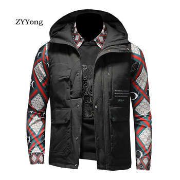 ZYYong Men's Hooded Zipper Multi-Pocket Cotton Vest Overalls Black White Men's Business Casual Fashion Comfortable Vest Men