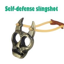 Цинк сплав рогатка самооборона праща выстрел тигр голова брелок два пальца рука пряжка мини катапульта лук и стрела