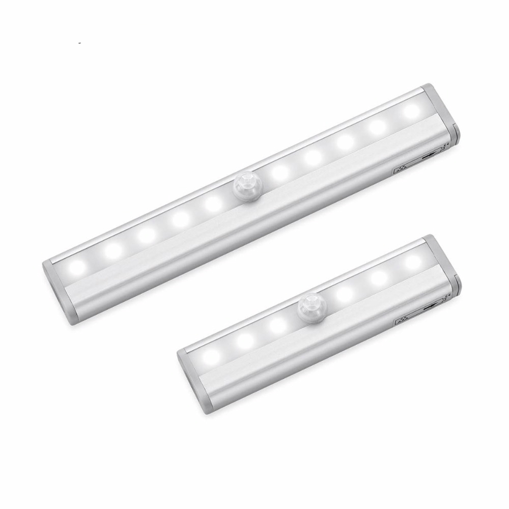Sensor Closet Wall Lamp Rigid Strip Bar Kitchen Wardrobe Emergency Night Lighting Portable LED Under Cabinet Anywhere Light