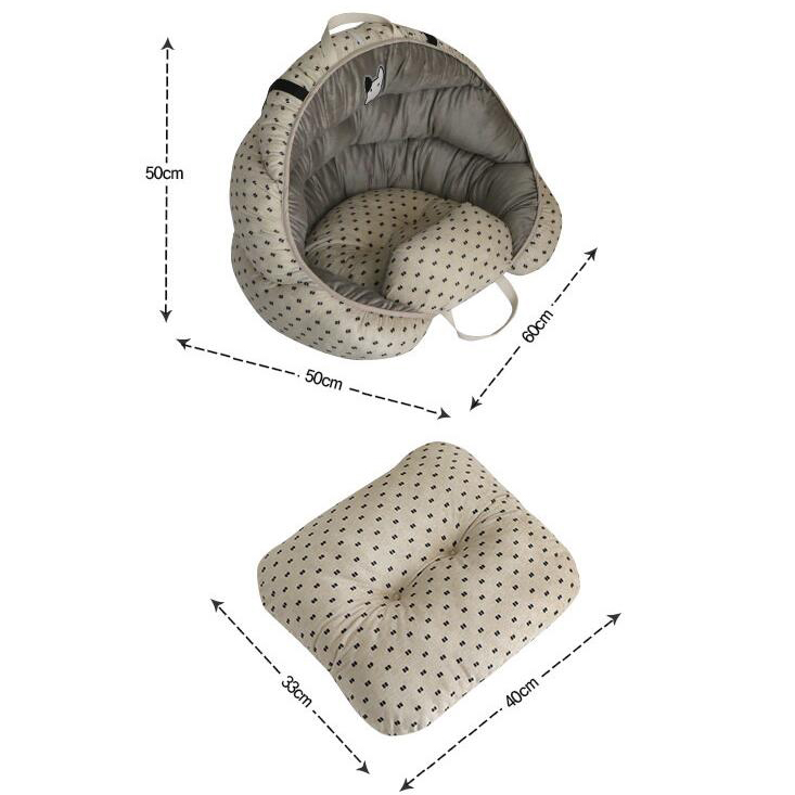 Super Comfortable Velvet Fleece Car Dog Bed Pet Bed Cat Nest Cat Dog Non-slip Cotton Material 9