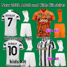 20 21 patch NEW juvees Adults and Kids kit Soccer Jersey home Ronaldo DE LIGT DYBALA Home away child Juvees Football shirt(China)