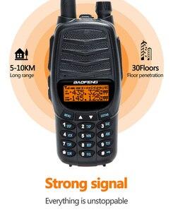 Image 4 - 2pcs 2021 New BAOFENG UV X10 10W Powerful Dual PTT Dual Band VHF/UHF USB Charging Ham 2 Way Radio Update UV 5R Walkie Talkies Tr