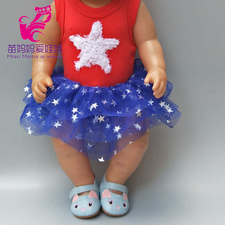 Для 43 см Женская футболка кружевное платье для 18 дюймовых кукол одежда брюки для 18-дюймовых девочек куклы Подарки для девочек