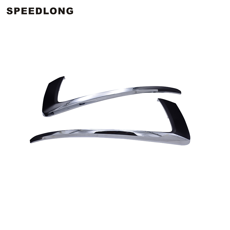 1Pcs Front Bumper Chrome Molding Trim RH For Mitsubishi Pajero 2015-2016