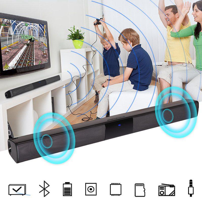 VTIN BS28B Wireless Bluetooth Soundbar Speaker TV Home Theater Soundbar Subwoofer with RCA 3D Stereo Surround Sound Speaker (3)
