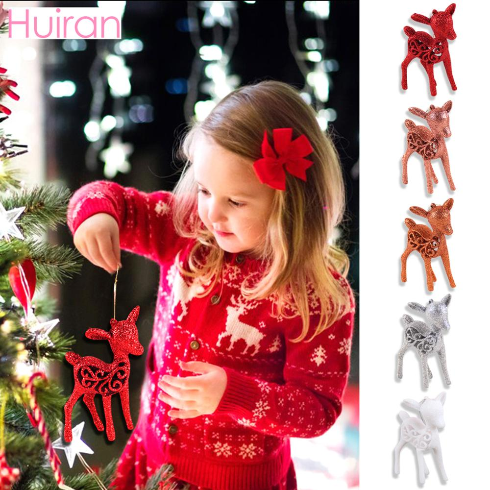 Huiran Xmas Deer Dolls Christams Ornaments China Style Pendant Merry Christmas Tree Decoration for Home Cristmas 2019 Navidad in Pendant Drop Ornaments from Home Garden