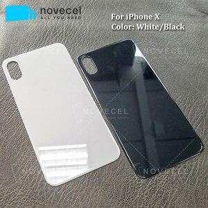 Image 2 - 10 sztuk Big Hole metalowa rama pokrywa baterii tylne drzwi obudowy telefonu obudowa tylna pokrywa dla iPhone X XS MAX szklane ciało powrót obudowa