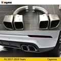 Квадратные наконечники выхлопной трубы для Porsche New Cayenne 2018 2019 год Cayenne Turbo из нержавеющей стали 1 пара