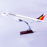 1:150 Scale 47CM Airbus A320 Model Air Philippines Airlines with Base Alloy Aircraft Plane Collection Cisplay Toys Fans Gifts