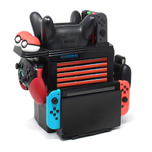 For Nintend Switch NS Accessories Game Disc Storage Bracket Holder Tower for NS Switch Pro Joystick Stand for poke ball plus