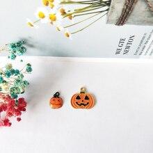 10pcs Cute Halloween Pumpkin Enamel Charms Pendants DIY Alloy Grimace Earring Bracelet Jewelry Accessory FX153