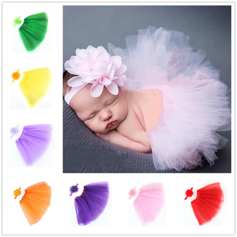 Baby Girls Newborn Photography Props Baby Tutu Skirt Hat Headband Set Photos Props New Born Photography Props Accessories