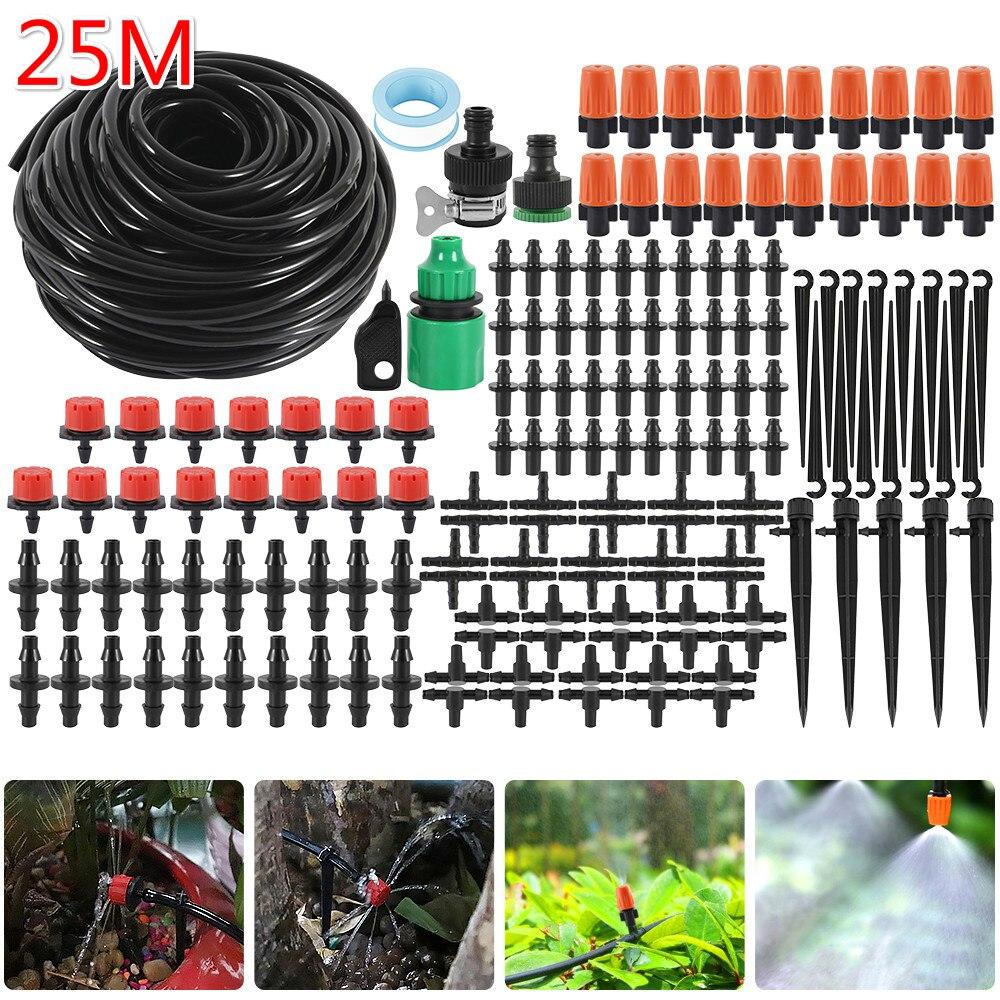 25M Bewässerung Spray DIY Tropf Bewässerung System Automatische Bewässerung Garten Schlauch Micro Drip Bewässerung Kits mit Einstellbare Tropfer