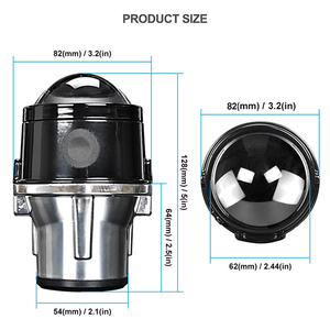 Image 2 - 2.5 inch Bi Xenon Projector Lens Car Fog Light Waterproof 12V 24V Headlight Lamp H11 leds Xenon bulbs For Auto Off Road  Xenon
