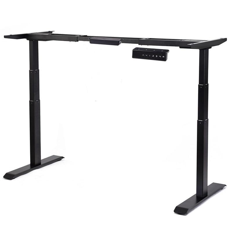 Elektrische Höhe Einstellbar Steh Schreibtisch Rahmen Dual Motor System Solide Stahl Rahmen Bau Rahmen mit Große Gewicht Kapazität