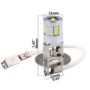Image 5 - H3 LED נורות רכב ערפל מנורת מתח גבוה מנורת 5630 SMD אוטומטי נהיגה Led נורות רכב אור מקור חניה 12V 6000K ראש מנורות